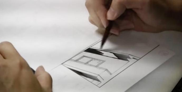ペン入れの技術<背景実践②>